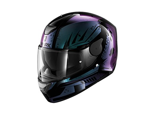 Shark D-Skwal Dharkov KVX - Casco para motocicleta, talla M, color negro...