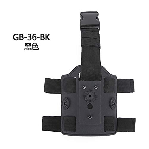 HWZ Tactical Molle Hunting Thigh Drop Leg Platform Dual Strap Leg Thigh Bag Pouch Tactical Leggings Device (Black) -