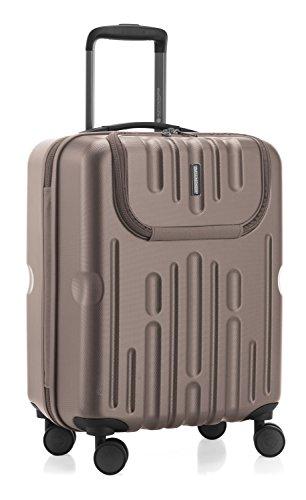 HAUPTSTADTKOFFER - Havel - 2er Koffer-Set (Handgepäck mit Laptop-Fach und Großer Reisekoffer) Trolley-Set Rollkoffer Hartschalenkoffer, TSA, (S & L), Gold - 3