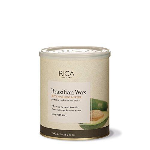 RICA Brazilian Wax, Dose 800 ml. Für Intimbereich und Achseln Haarentfernung, Hot Wax Anwendung ohne Vliesstreifen