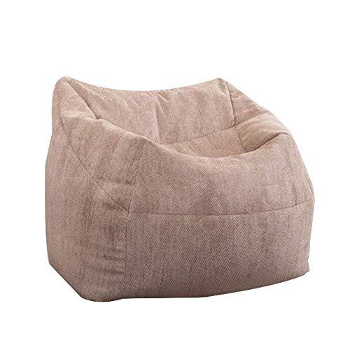 LLRYN Lazy Sofas Abdeckung Stühle ohne Filler Leinenstoff Lounger Sitz Sitzsack Puff Puff Couch Tatami Wohnzimmer, 62cmx85cmx85cm -