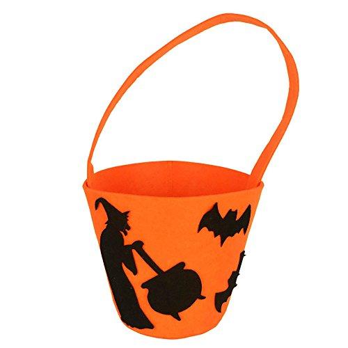 VEMOW Heißer Nette Süße Baby Mädchen Jungen Kürbis Lagerung Halloween Party Zubehör Tasche Einzigen Handtaschen Taschen(Tasche, L)