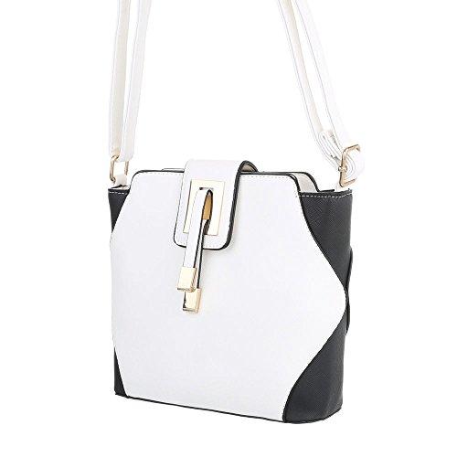 Ital-Design, Borsa a spalla donna bianco nero