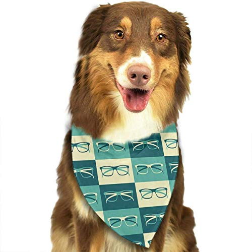 nxnx Dog Bandana Eyeglasses in Vintage Style Pet Scarf Triangle Bibs Kerchief Set Pet Costume Accessories Decoration for Small Medium Large Dogs Cats - Super Coole Selbstgemachte Kostüm