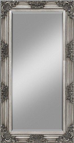 Wandspiegel Holzrahmen Silber barock antik Landhaus Spiegel Alvaro