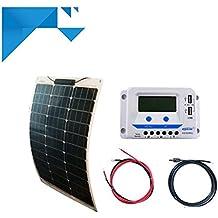 Kit Panel solar fotovoltaico Semi-Flexible 50W 12V PWM EPEVER