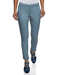 oodji Ultra Mujer Pantalones Chinos de Algodón 9bea19d1b0e8