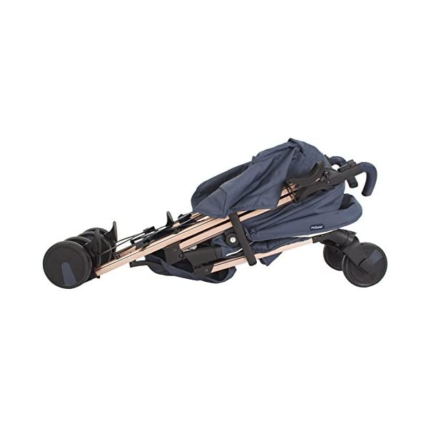 My Babiie Billie Faiers MB51 Rose Navy Stroller  Suitable from birth to maximum 15kg Extendable 3 position canopy Lockable swivel front wheels 6
