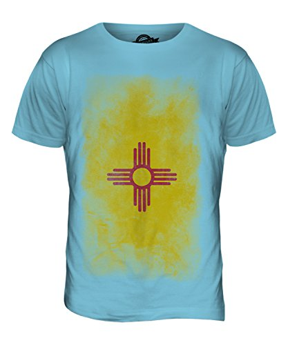 CandyMix Bundesstaat New Mexico Verblichen Flagge Herren T Shirt Himmelblau