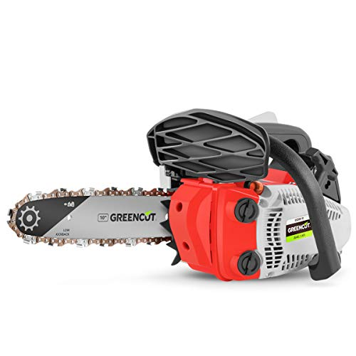 Greencut GS2500 10 - Motosierra de gasolina, color rojo/ negro/ blanco