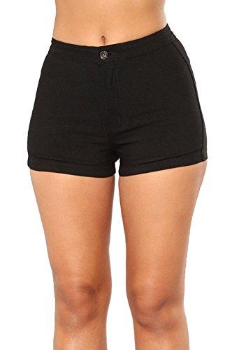 iRachel Womens Casual Shorts Summer Denim Hot Pants Butt Lift Jean Shorts (Shorts Butt)