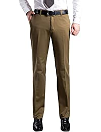 LvRao Business Pantalones Algodón Para Hombre Formal Pantalones De Traje
