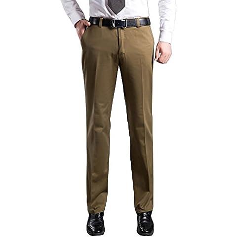 LvRao Pantaloni da Abito in Cotone Per Uomo - Calzoni da Auaunno e Inverno Per Business Formale