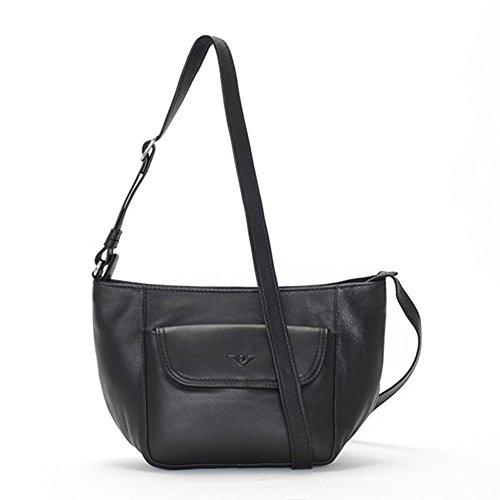 VOi Tasche Shopper Umhängetasche 20723 feinstes Glattleder schwarz