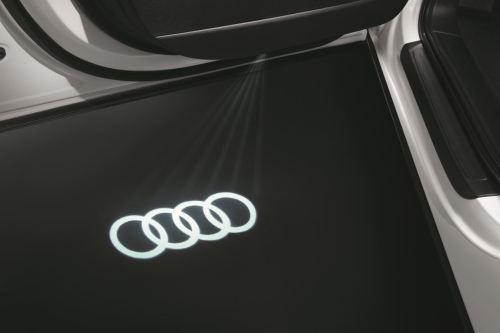 Original Audi LED Einstiegsleuchten Ringe Logo Schriftzug Türbeleuchtung Projektion 4G0052130G
