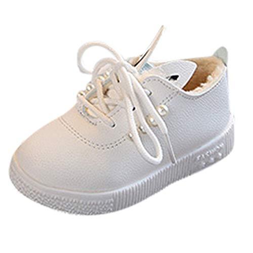 SUCES Kinderschuhe,Kinder Kleinkind Baby Perlen Ohren Sneaker Mädchen Weiche Rutschfeste Turnschuhe Prinzessin Schuhe Bequem Schuhe Freizeitschuhe Sneakers 21-30