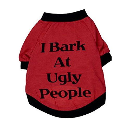 Hunde/Katzen Kleidung, Transer® Pets Westen Sweatshirts mit Worten bedruckt Kleidung Hunde outwears T-Shirt Puppy Mäntel für Kleid Up Doggy Kostüme Hot Pink Kneipe/Kätzchen Apparel