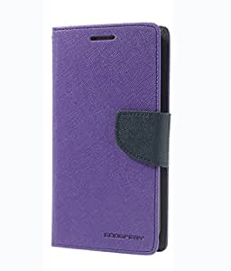 Mercury synthetic leather Wallet Magnet Design Flip Case Cover for Samsung Galaxy Note2 N7100 - Purple
