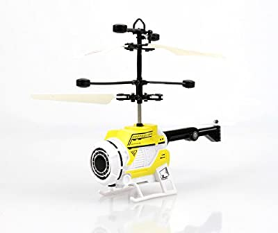 Dream Toys Fun Helicopter (Yellow), Flying Space Helicopter Easy to Fly. With the Hand The Hit. Flight Game Alien Ufo Helicopter Toy for Kids and Adults. Party, Party Game, Gift, Gadget 2018