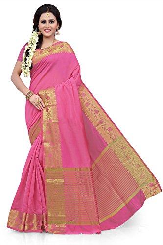 RUHIN Pink Monika Cotton Silk Jacquard Saree (TT-MSP-016)