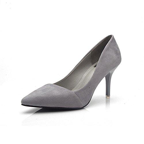 pengweiSchuhe spitzen High Heels Damen Mode niedrig zu helfen flachen Mund Pers?nlichkeit Sandalen gray