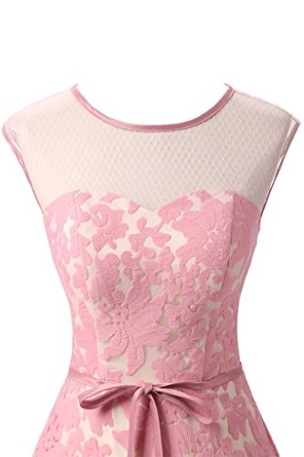 ivyd ressing robe col rond dentelle Prom préférée longue robe de bal robe du soir Rose