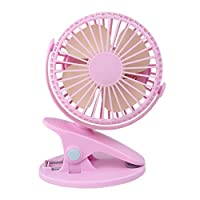 360° Portable Camping Fan Rechargeable USB Clip On Mini Desk Fan Pram Cot Car, Best for Home, Office,Travel
