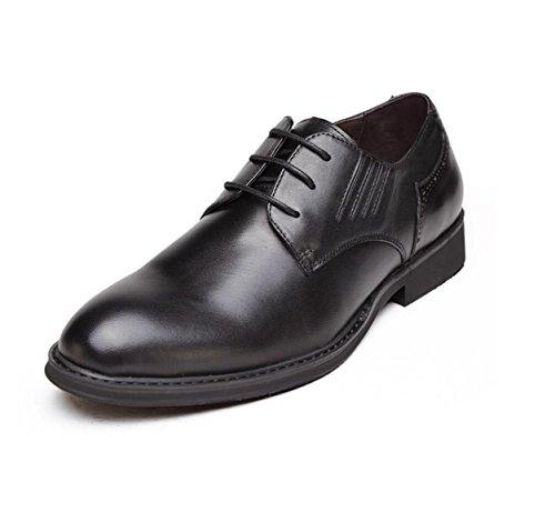 Schwarz GRRONG Herren Herren Echtes Business GRRONG Leder Lederschuhe Black Leisure 8wp4xwq