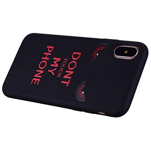 Moda Pittura Colorata Ghepardo Custodia iPhone X, per Apple iPhone 10 X Case Cover Flessibile Ultra Sottile TPU Nero(3)