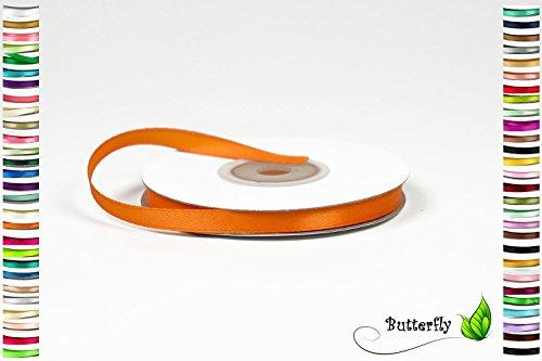 Creativery 25m Rolle Satinband 6mm (orange 668)//Schleifenband Deko Band Dekoband Geschenkband Dekoration Hochzeit Taufe