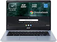 Acer Chromebook 314 CB314-1H-C2W1 Notebook, Pc Portatile con Processore Intel Celeron N4000, Ram 4GB DDR4, eMM