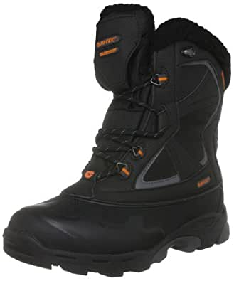 Hi-Tec Men's Capri 200 Wp Black/Dark Grey/Burnt Orange Snow Boot O001424/021/01 12 UK