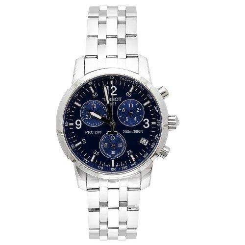 Tissot Hommes T17158642 T-Sport PRC200 chronographe en acier inoxydable avec cadran bleu