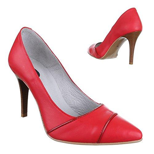 Ital-Design , Escarpins femme Rouge - Rouge