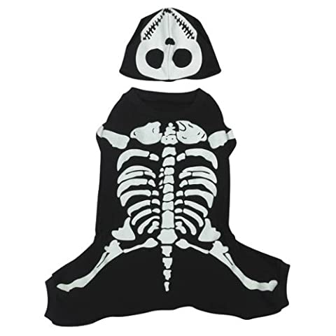 Casual Canine Cotton Glow Bones Dog Costume, X-Small,