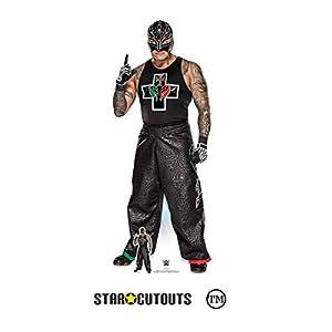 Star Cutouts Ltd- Star Cutouts SC1518 WWE Rey Mysterio Profesional Raw de cartón para Luchador de tamaño Real, 169 cm de Alto, 69 cm de Ancho
