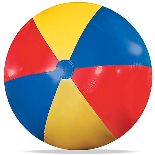 Novelty Place Giant Inflatable Beach Ball, Pool Toy for Kids & Adults - Jumbo Size 5 Feet (60 Inches) (Big Beach Ball)