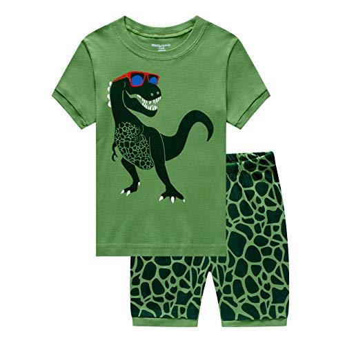 MIXIDON Jungen Schlafanzug Kinder Dinosaurier Pyjamas Sets Kleinkind Pjs Nachtwäsche 2-8 Jahre