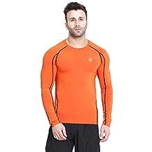 9048f85ec7cd CHKOKKO Rider Compression Full Sleeve Plain Athletic Fit Multi Sports  Badminton, Gym Streachable Sports Tshirts