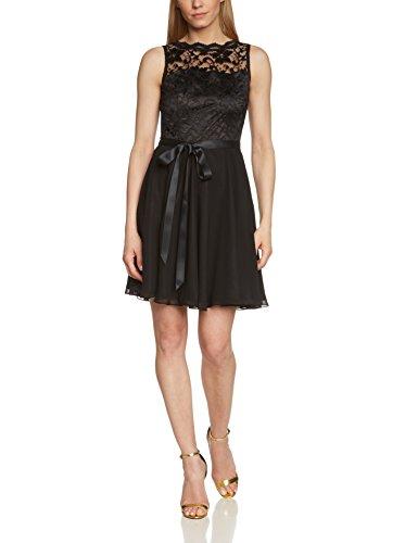 Swing Damen Cocktail Kleid mit Floraler Spitze, Gr. 36, Schwarz (Schwarz 1010)