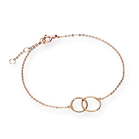9ct Rose Gold 7 Inch Karma Circles Bracelet