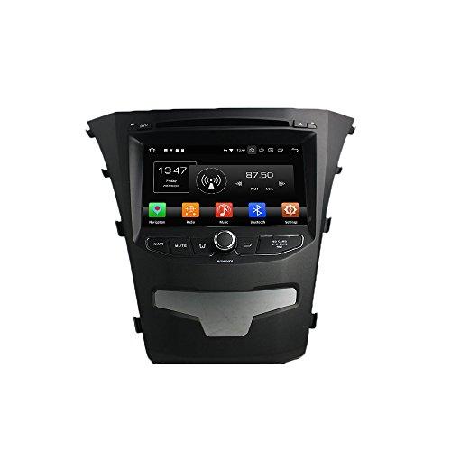 Android 8.0 Octa Core Autoradio Radio DVD GPS Navigation Multimedia-Player Auto Stereo für SsangYong Korando 2014 unterstützt Lenkradsteuerungs mit 3G WiFi Bluetooth frei 8G SD-Karte (Zollfrei)