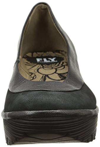 Fly London Yoko, Damen Ballerinas Schwarz (cupido/borgogna Black/graphite)