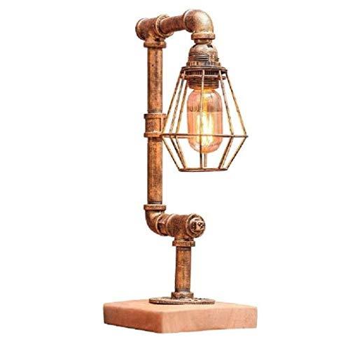 RJW Retro Eisen Wasserrohr Lampe Tischlampe Steampunk Rustikale Tischlampe, Wasserrohr Tischlampen, Kupfer, A Aufwärmen