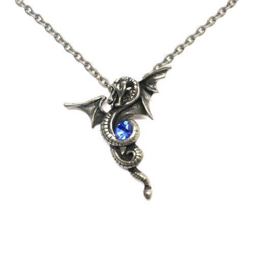 GILIND-Eternal Drago Collana gotica dei monili del drago Winding Sapphire...