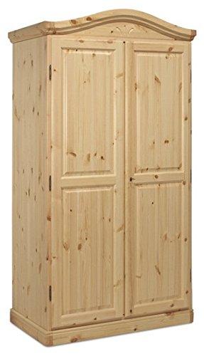 Armadio cornice curva in legno di pino grezzo (non verniciato ...