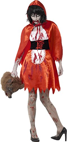 ncy Dress Halloween Party Horror Zombie Little Miss Kapuze Kostüm Gr. XS, rot ()