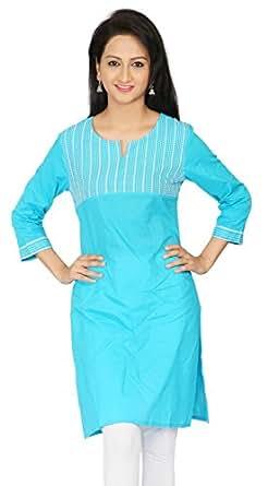 Srishti Cotton 3/4th Sleeve Ladies Kurti, Pink