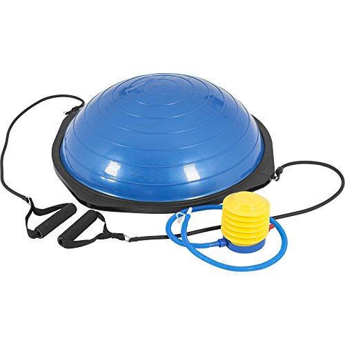 Gorilla Sports Balance Board Trainer Therapiekreisel mit Griffen Blau/Schwarz 52cm Durchmesser