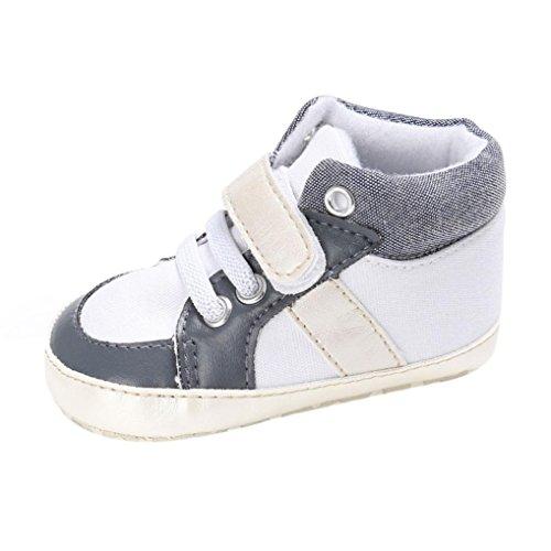Hunpta Babyschuhe jungen Mädchen Neugeborenes Krippe weiche Sohle Schuhe Sneakers (Alter: 6 ~ 12 Monate, Weiß) Weiß